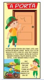 Folheto infantil A PORTA - pacote com 100 unidades