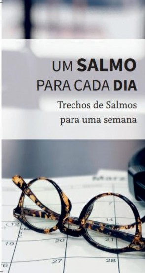 """Folheto """"Trechos de Salmos para uma semana"""" - Pacote com 50 unidades"""